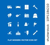 modern  simple vector icon set... | Shutterstock .eps vector #1091186210