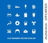 modern  simple vector icon set... | Shutterstock .eps vector #1091189324