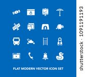 modern  simple vector icon set... | Shutterstock .eps vector #1091191193