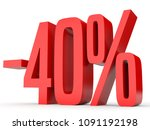 minus forty percent. discount... | Shutterstock . vector #1091192198