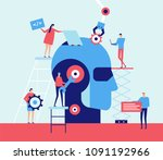 artificial intelligence   flat... | Shutterstock .eps vector #1091192966