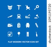 modern  simple vector icon set... | Shutterstock .eps vector #1091195720