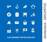 modern  simple vector icon set... | Shutterstock .eps vector #1091195723