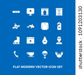 modern  simple vector icon set... | Shutterstock .eps vector #1091203130