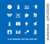 modern  simple vector icon set... | Shutterstock .eps vector #1091203250