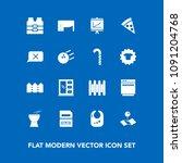 modern  simple vector icon set... | Shutterstock .eps vector #1091204768