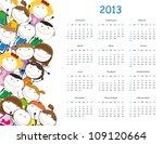 calendar on 2013 year | Shutterstock .eps vector #109120664