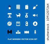 modern  simple vector icon set... | Shutterstock .eps vector #1091207264