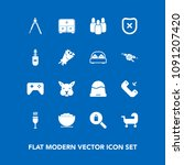 modern  simple vector icon set...   Shutterstock .eps vector #1091207420