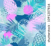 fashion tropics funny...   Shutterstock .eps vector #1091207816