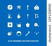modern  simple vector icon set... | Shutterstock .eps vector #1091208500