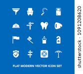 modern  simple vector icon set... | Shutterstock .eps vector #1091208620