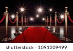 3d Illustration Red Carpet
