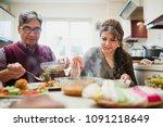 mature couple are enjoying a... | Shutterstock . vector #1091218649