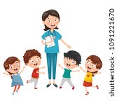 vector illustration of health...   Shutterstock .eps vector #1091221670