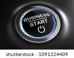 3d illustration start button... | Shutterstock . vector #1091224409