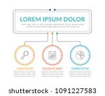 infographic template with main... | Shutterstock .eps vector #1091227583