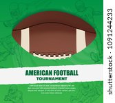 american football poster with... | Shutterstock .eps vector #1091244233