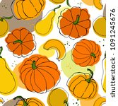 vector seamless pattern of... | Shutterstock .eps vector #1091245676