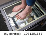 step digital foot scan ...   Shutterstock . vector #1091251856