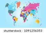 world map vector | Shutterstock .eps vector #1091256353