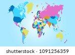 world map vector | Shutterstock .eps vector #1091256359