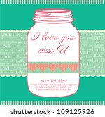 love jar card. vector... | Shutterstock .eps vector #109125926