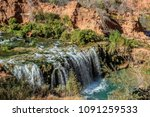 waterfalls in havasupai arizona | Shutterstock . vector #1091259533