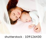 young mother and her baby ... | Shutterstock . vector #109126430