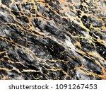 gold marbling texture design... | Shutterstock .eps vector #1091267453