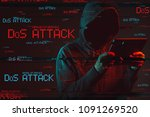 denial of service or ddos... | Shutterstock . vector #1091269520