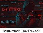 denial of service or ddos... | Shutterstock . vector #1091269520