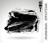 black brush stroke and texture. ... | Shutterstock .eps vector #1091272166