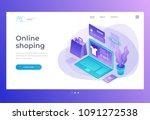 homepage. header for website... | Shutterstock .eps vector #1091272538