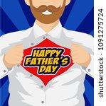 happy father's day hero vector... | Shutterstock .eps vector #1091275724