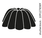 black and white jelly pudding...   Shutterstock .eps vector #1091278589
