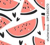hand drawn seamless pattern... | Shutterstock .eps vector #1091303270