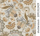 seamless ornate pattern with... | Shutterstock .eps vector #1091312429