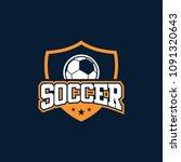 soccer logo design | Shutterstock .eps vector #1091320643