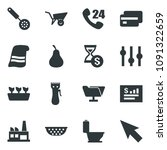 black vector icon set pear... | Shutterstock .eps vector #1091322659