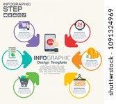 6 step of timeline infographics ... | Shutterstock .eps vector #1091324969
