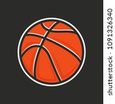 basketball ball icon. vector... | Shutterstock .eps vector #1091326340