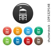 rescue tower icon. simple...   Shutterstock .eps vector #1091329148