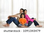 portrait of a family | Shutterstock . vector #1091343479