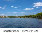 landscapes view of lake and sky ... | Shutterstock . vector #1091344229