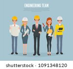 technician engineers and... | Shutterstock .eps vector #1091348120