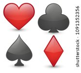 poker game emoji icon object... | Shutterstock .eps vector #1091352356
