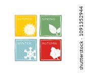 four seasons of the year.  icon ... | Shutterstock .eps vector #1091352944