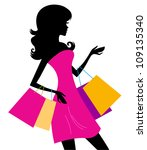 Woman_shopping_silhouette
