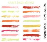 modern watercolor daubs set ... | Shutterstock .eps vector #1091358026